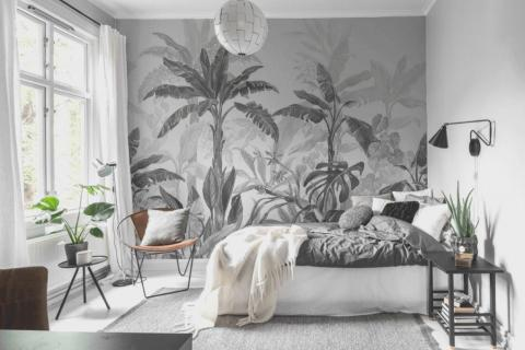 smart-art-wallpaper-wall-mural-overlay-artistic-creative-abstract-textured-tropical-forest-palm-leaves-design