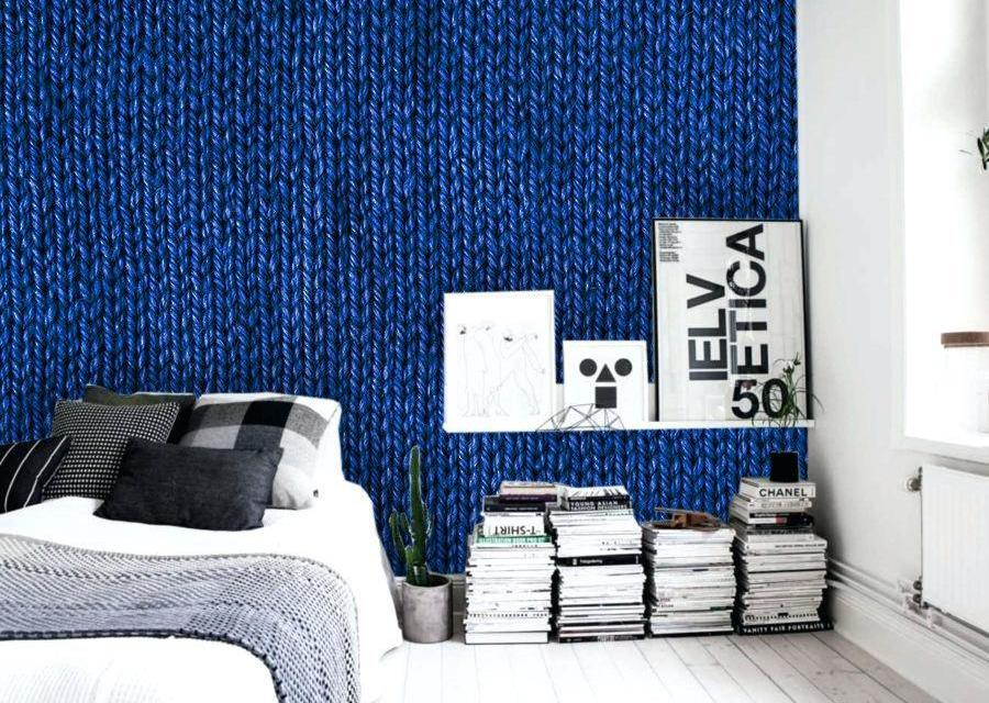 abstract-painting-in-luxurious-interior-with-close-knitted-blue-texture-on-wallpaper-
