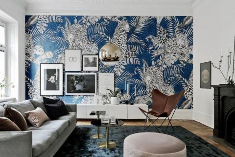 smart-art-blue-and-white-leopard-wallpaper