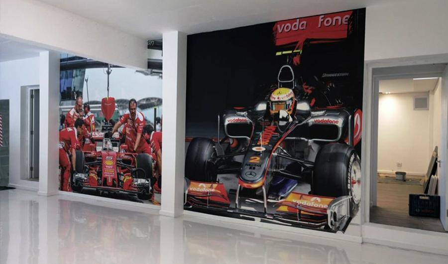 smart-art-wallpaper-installation-racing-themed-garage-1
