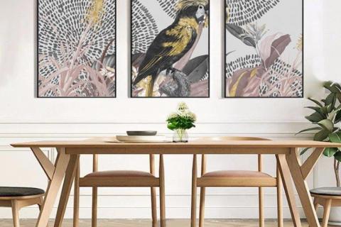 smart-art-boho-dining-room-canvas-triptych-beautiful-interior-decor-ideas