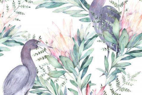 smart-art-tropical-jungle-with-animals-wallpaper-1