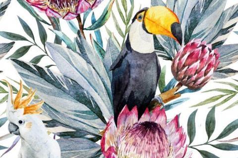 smart-art-tropical-jungle-with-animals-wallpaper-2