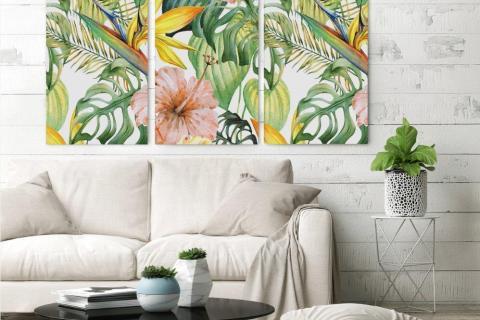 smart-art-tropical-triptych-canvas-pair