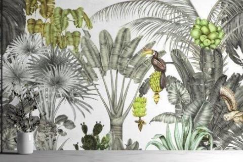 smart-art-bespoke-home-office-black-and-green-botanical-wallpaper