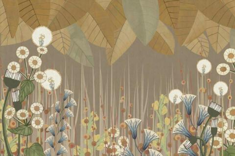 smart-art-wallpaper-design-Trend-2021-grass-neutral-beige-grey-soft-pantone-designs-14