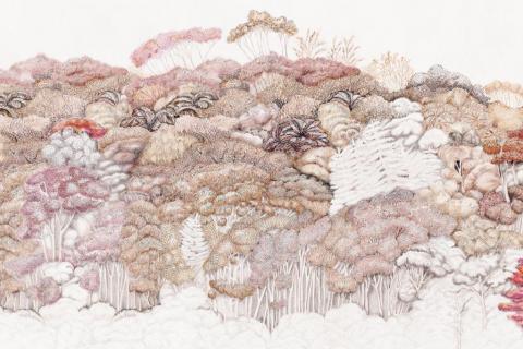 smart-art-wallpaper-design-Trend-2021-grass-neutral-beige-grey-soft-pantone-designs-23