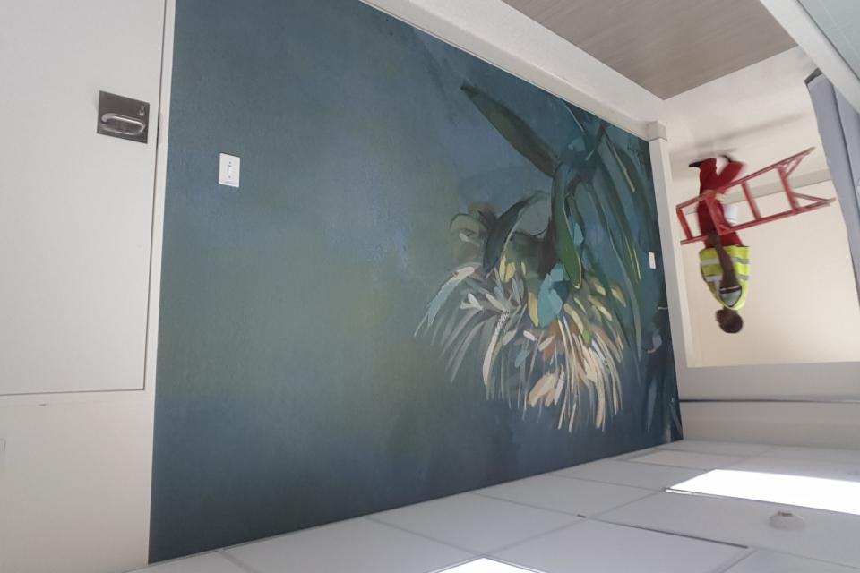 Smart-Art-wallpaper-installation-Christian-Barnard-Netcare-Hospital-Radiology-unit-floral-painting-art-2