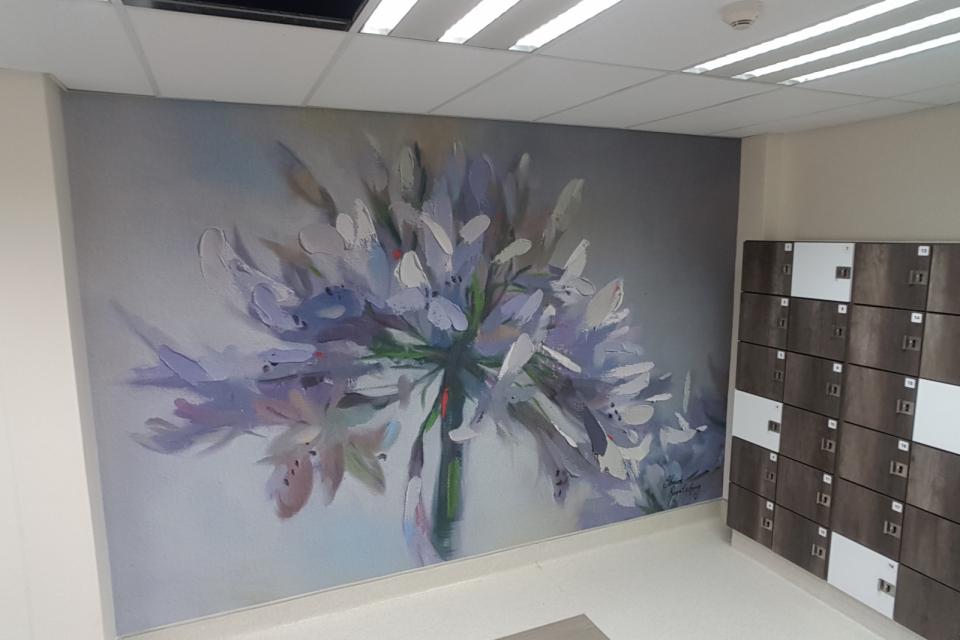 Smart-Art-wallpaper-installation-Christian-Barnard-Netcare-Hospital-Radiology-unit-floral-painting-art-3