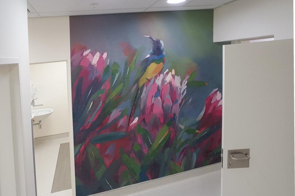 Smart-Art-wallpaper-installation-Christian-Barnard-Netcare-Hospital-Radiology-unit-floral-painting-art-4