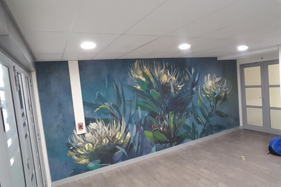 Smart-Art-wallpaper-installation-Christian-Barnard-Netcare-Hospital-Radiology-unit-floral-painting-art-6