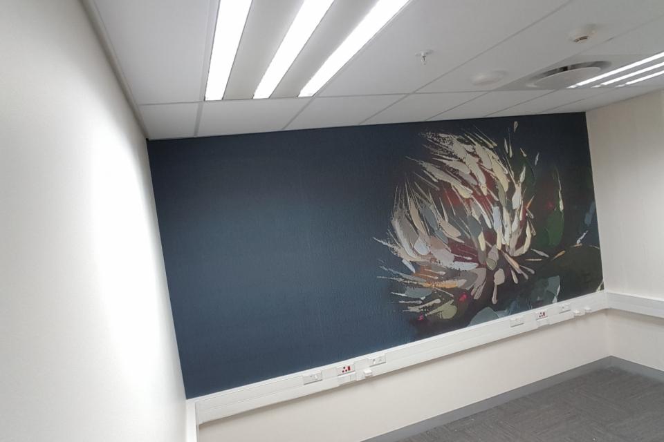 Smart-Art-wallpaper-installation-Christian-Barnard-Netcare-Hospital-Radiology-unit-floral-painting-art-7