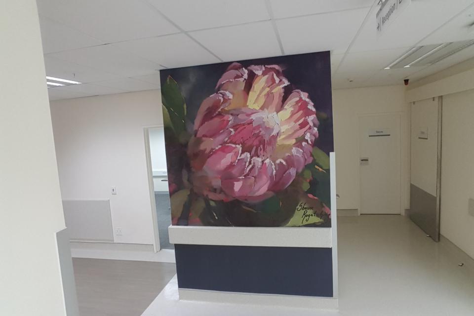 Smart-Art-wallpaper-installation-Christian-Barnard-Netcare-Hospital-Radiology-unit-floral-painting-art-8