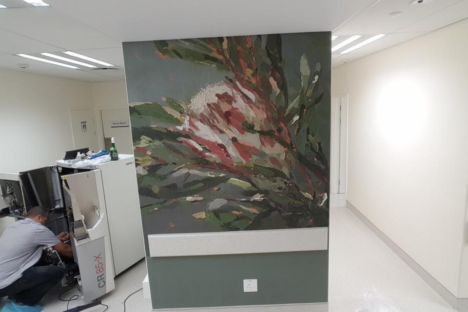 Smart-Art-wallpaper-installation-Christian-Barnard-Netcare-Hospital-Radiology-unit-floral-painting-art-9