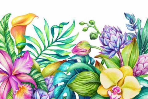 smart-art-kiddies-wallpaper-bright-flowers-and-leaves11