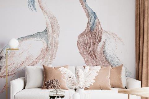 Smart-Art-Living-Romm-with-Big-Birds-on-Wallpaper
