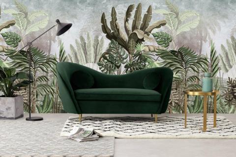 custom tropical jungle design wall mural