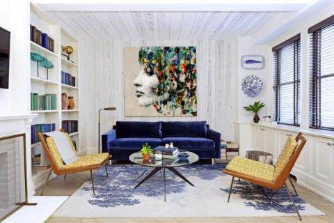 delft-designer-carpet-printed-bespoke-chair-covers-with-textured-washed-wood-wall-mural-panels-and-an-artistic-canvas