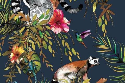 parot-banana-leaves-leopard-flamingo-3