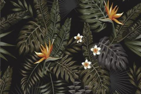 parot-banana-leaves-leopard-flamingo-34