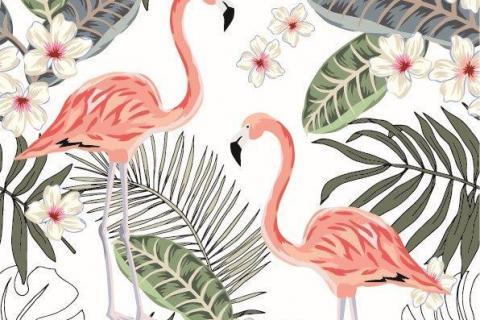 parot-banana-leaves-leopard-flamingo-41