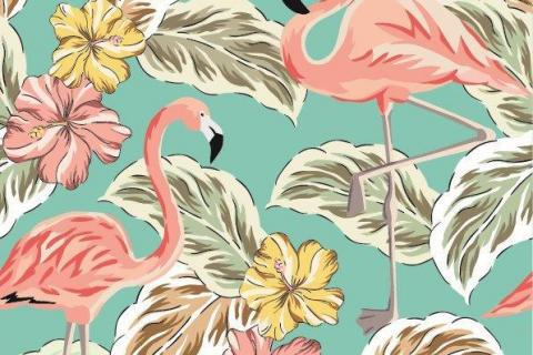 parot-banana-leaves-leopard-flamingo-42