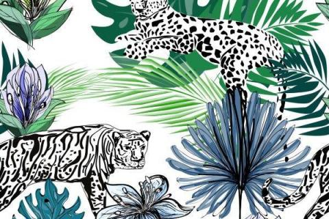 parot-banana-leaves-leopard-flamingo-44