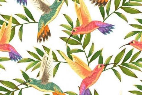 parot-banana-leaves-leopard-flamingo-47