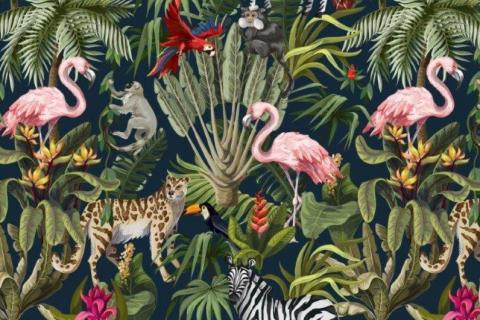 parot-banana-leaves-leopard-flamingo-58