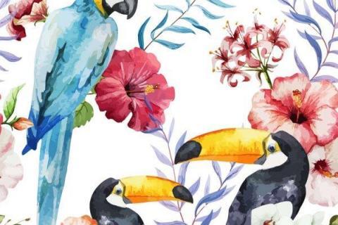parot-banana-leaves-leopard-flamingo-77