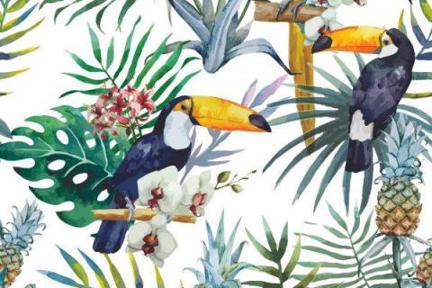 parot-banana-leaves-leopard-flamingo-81
