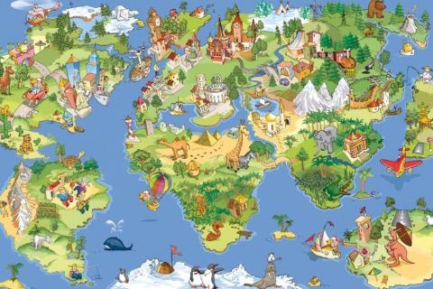 smart-art-designs-world-map-vintage-maps-book-shelves-wallpaper-3-wall-art-14