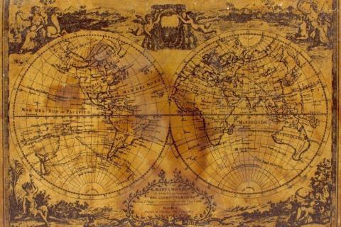 smart-art-designs-world-map-vintage-maps-book-shelves-wallpaper-3-wall-art-5