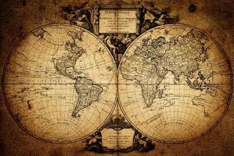 smart-art-designs-world-map-vintage-maps-book-shelves-wallpaper-3-wall-art-8