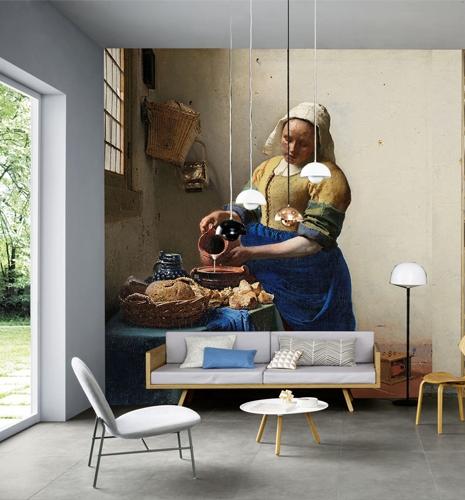 smart art vintage milk made modern style interior wallpaper textiles wall mural feature wall statement decor design living room home 1