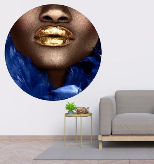 & Best Peel and Stick Tiles of 2021 round girl with gold lips