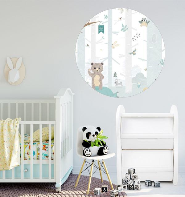 Smart Art Bespoke Printed Vinyl Stickers Animals in Kids room