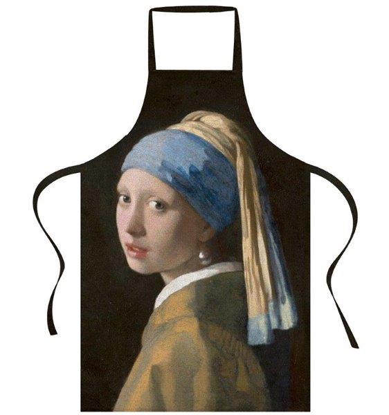 Smart Art Bespoke Printed Apron Girl with the Pearl Earring