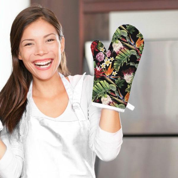 Smart Art Bespoke Printed Oven Glove Tropical