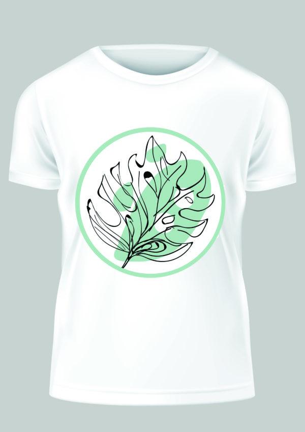 Smart Art Bespoke Printed T-shirt Abstract Leaf
