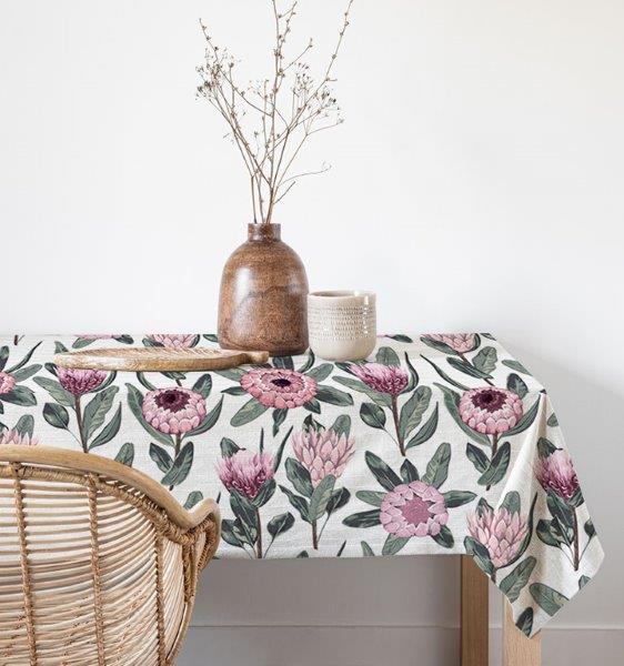 Smart Art Bespoke Printed Table Linen Protea