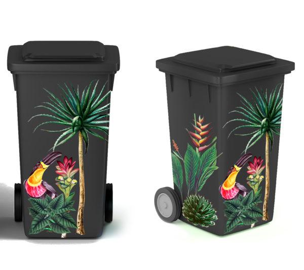 Smart Art Bespoke Printed Wheelie Bin Vinyl Rain Forest
