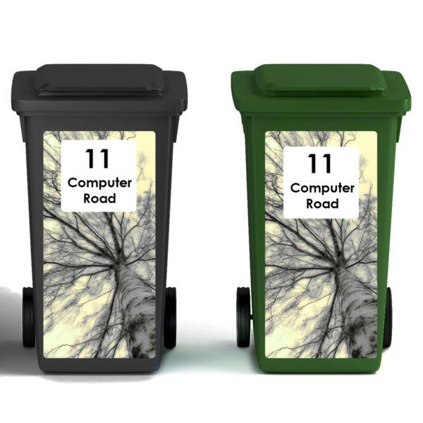 Smart Art Bespoke Printed Wheelie Bin Vinyl Trees