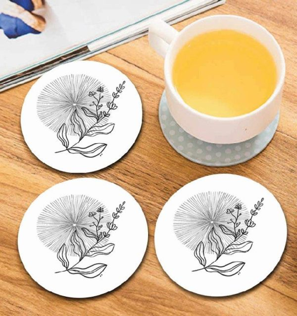 Smart Art Bespoke Printed Round Coasters Abstract