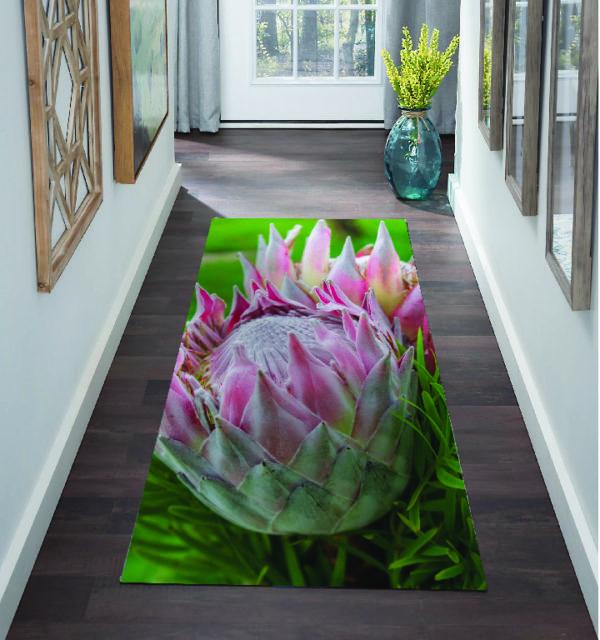 Smart Art Bespoke Printed Carpet Runner Protea