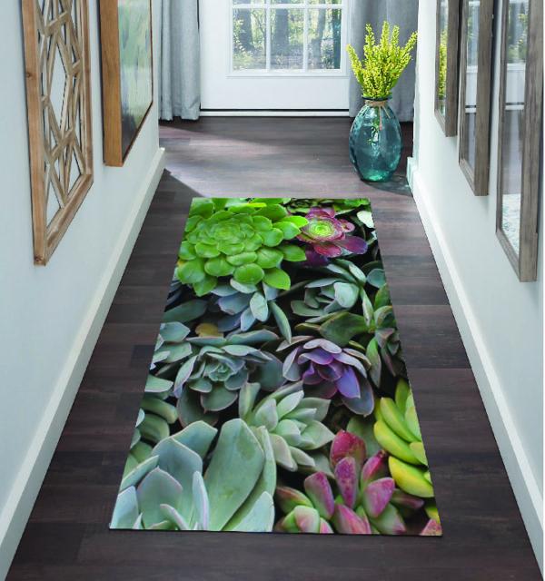 Smart Art Bespoke Printed Carpet Runner Succulents