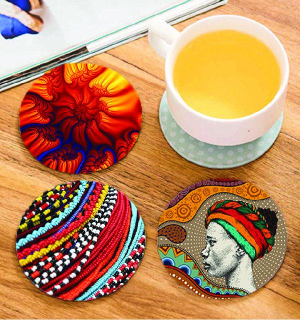 Smart Art Printed Coasters African