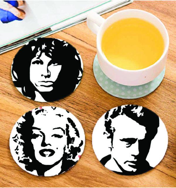 Smart Art Printed Coasters People