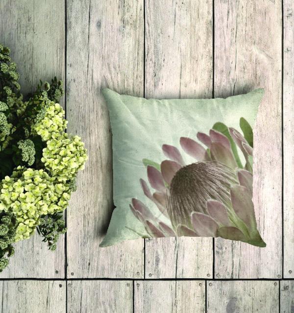 Smart Art Bespoke Printed Cushion Protea