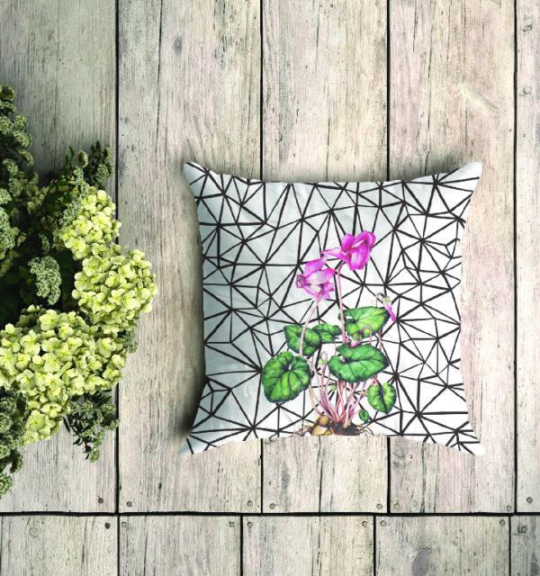 Smart Art Bespoke Printed Cushion Boho and Flower